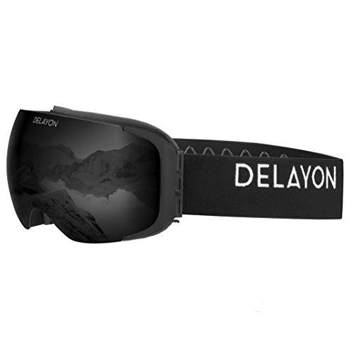 DELAYON Skibrille Explorer Goggle Brillentauglich (OTG) schwarz/schwarz