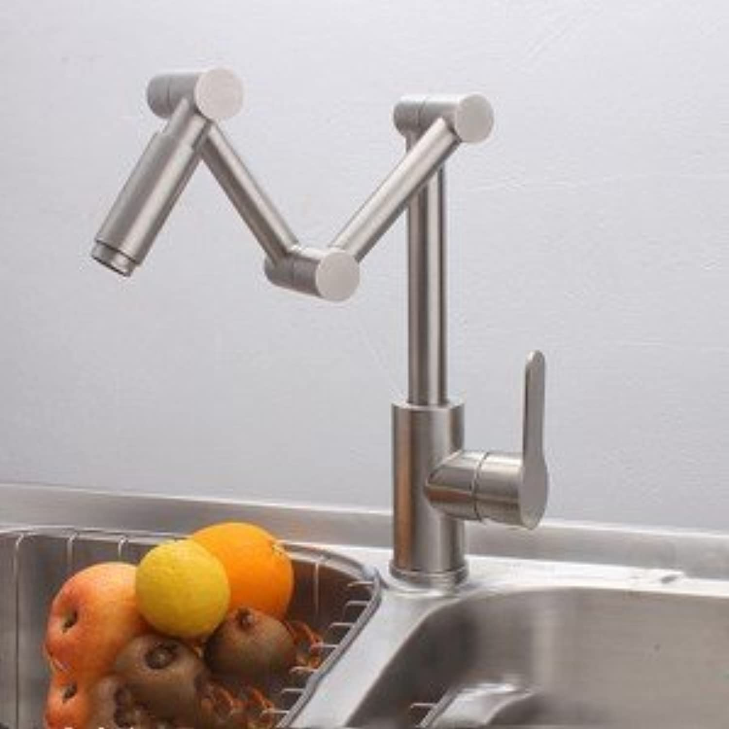 Diongrdk Stainless Steel Faucet, Hot and Cold Faucet, Folding Sink, Washing Basin, Faucet, Kitchen Faucet.
