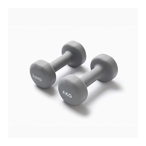 WFS Pesas Gimnasio Mancuerna Conjunto de Neopreno Recubierto de Pesos Ejercicio mancuerna de formación gratuitos for Hombres, Mujeres Musculación (Peso : 4KG (2kg*2))