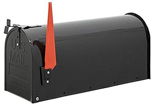 Arregui Mail D-USA/N Buzón Individual de Acero de estilo americano, Negro, Tamaño L (revistas y sobres C4) -22 x 48 x 17 cm