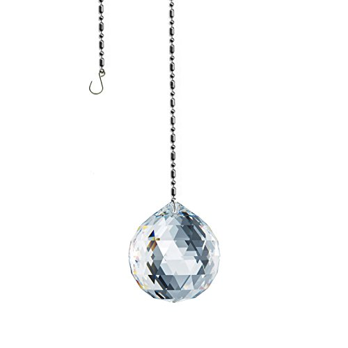 SWAROVSKI Spectra Crystal 20mm Clear Lead Free Feng Shui Faceted Ball Sun Catcher Austrian Crystal with Certificate