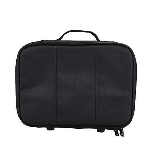 NCONCO Portable Hairdressing Tool Storage Bag Scissors Comb Hair Clipper Organizer Case Black(