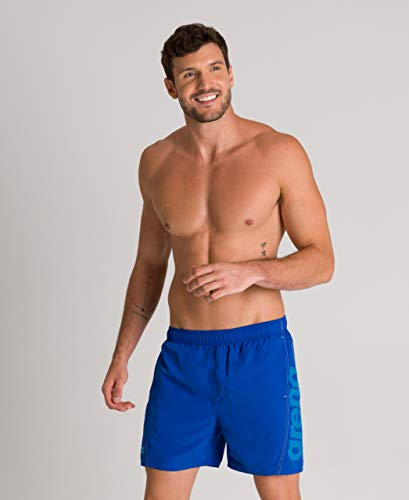 Arena M Fundamentals Logo, Pantaloncini da Bagno Uomo, Blu (Royalgeria/Turquoise/White), L
