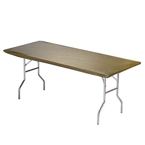 Kwik Covers Metallic Rectangle Plastic Table Covers, Bundle of 5 (Metallic Gold, 8' (30' x 96'))