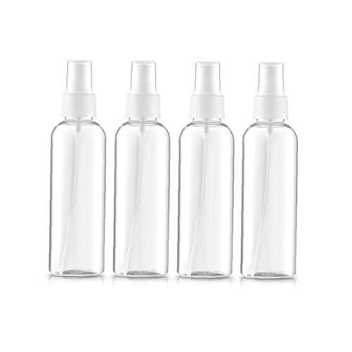 4pcs / set claras aerosol botellas de la niebla fina niebla reutilizables Botellas del aerosol del atomizador líquido de la pipeta contenedor para aceites esenciales, Viajes, Perfumes (100 ml, 3,5 oz)