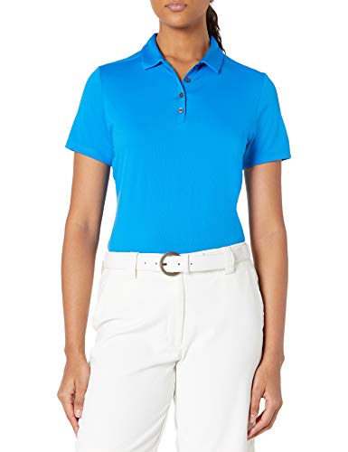 Jack Nicklaus Women's Solid Textured Golf Polo Shirt, Electric Bl Lemonade, Medium