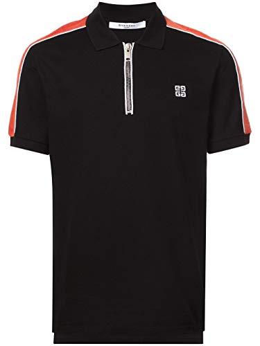 Givenchy BM70AX3006 Poloshirt mit Reißverschluss Gr. M, Schwarz
