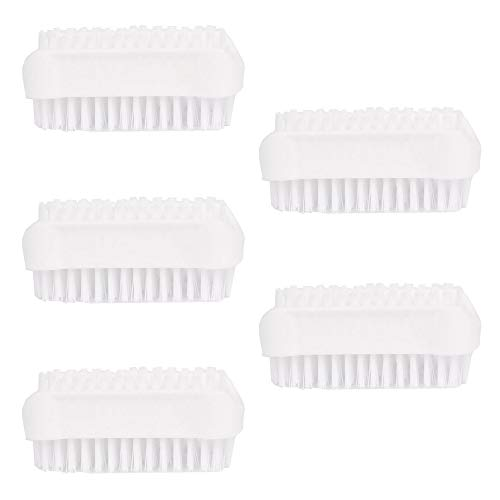 Set of 5 / pieces Brosses à double face Blanc dans la collection Brosses à ongles / brosse à main pour salle de bain, toilette, lavabo, atelier par PARSA