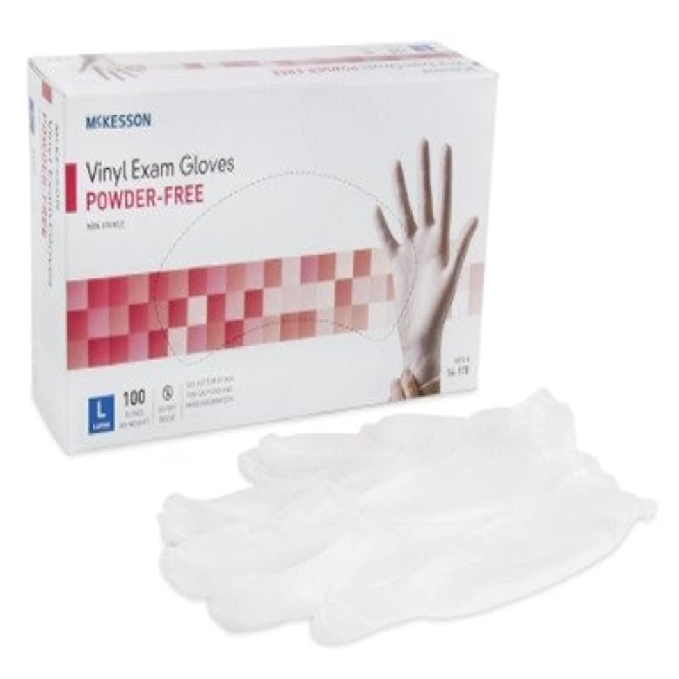 Medi-Pak Powder-Free Vinyl Exam Gloves - Large, 1000 Each / Case