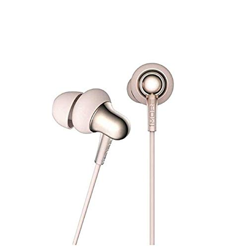 1MORE Stylish Dual-dynamic Driver In-Ear Headphones Comfortable Lightweight Earphones with 4 Fashion Colors, Noise Isolation, MEMS Mic and In-Line Remote Controls for Smartphones/PC/Tablet - Gold