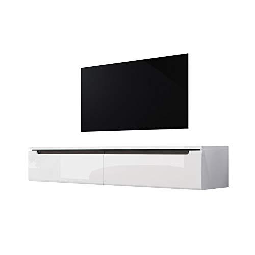 Selsey Swift - Mueble TV Moderno/Mesa para TV/Mueble para Salón (140 cm, sin LED, Blanco Brillante)