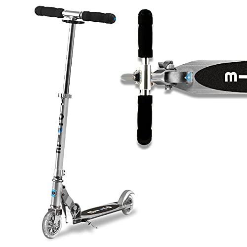 Micro Mobility - Trottinette Sprite Gris Aluminium - Trottinette Enfant compacte et Pliable - Apprentissage de l'équilibre - À...