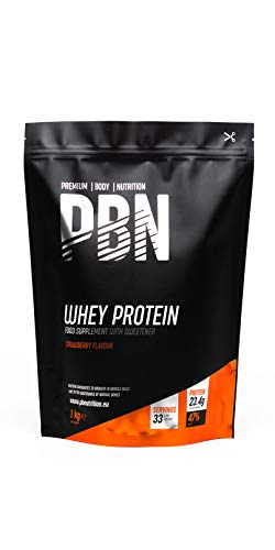 Premium Body Nutrition Whey Protein Powder 1kg Strawberry