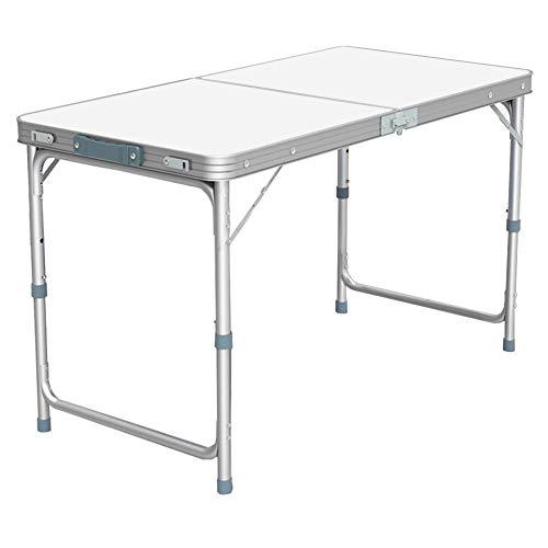 Nestling® Garten im Freien Aluminium tragbare Klapp Camping Picknick Party Feld Küche BBQ Tisch Extra Stärke Portable Indoor Outdoor,Höhenverstellbar (1.2M Table)