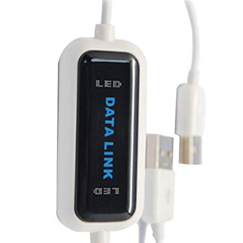 Yihaifu High Speed USB 2.0 auf USB-Speed-USB-Übertragungskabel Datenkabel Online Share Link Net Direct Data File Transfer Cable Bridge PC zu PC Notebook