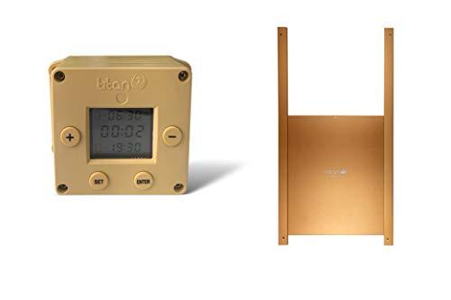 Titan Incubators Cube Ouvre-Porte Automatique de Poulailler avec Minuterie + Porte en Métal