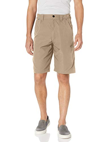 Wrangler Authentics Men's Performance Side Elastic Utility Short, Desert Sand, 34
