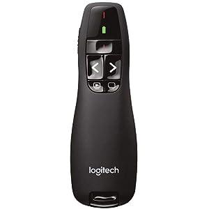 Logitech R400presentador inalámbrico–puntero Laser- negro