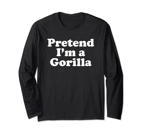 Disfraz divertido de Halloween de Finge I'm A Gorilla Manga Larga