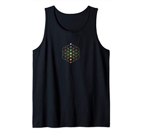 Flor de la Vida, Chakra, Geometría Sagrada, Espiritualidad Camiseta sin Mangas