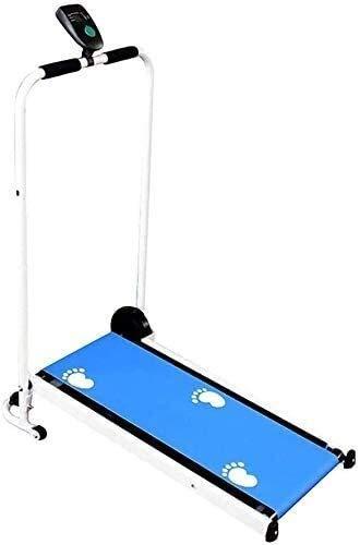 Cinta de correr para plegado en casa con máquina de cinta de correr incline para uso doméstico Cinta de correr simple, pequeña mecánica multifuncional, máquina de caminata baja de bajo ruido peng peng