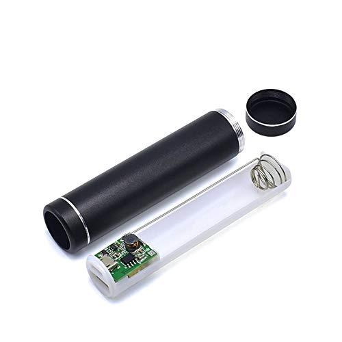 #N/V Multicolor Cilindro del Banco del Poder de la Batería Shell 1x18650 Con Puerto de Carga USB