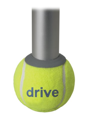 Drive Medical Deluxe Walker Rear Tennis Ball Glides, Yellow