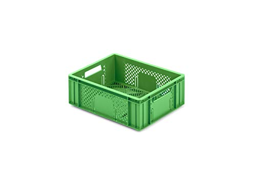 aidB Obst- & Gemüsekasten, 400x300x142 mm, robuster Obstkasten, stapelbarer Gemüsekasten