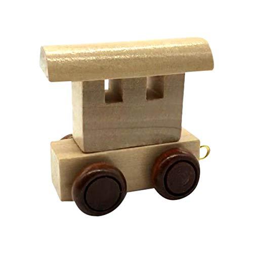 Buchstaben Zug aus Holz, Lok, Waggon, A-Z, Wunschname (Waggon)