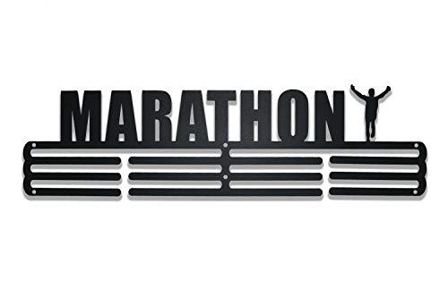 NITTEB Porta Medaglie Running Runner Parete da Muro Marathon Nero Medal Display And Holder Medagliere Medal Hanger Uomo