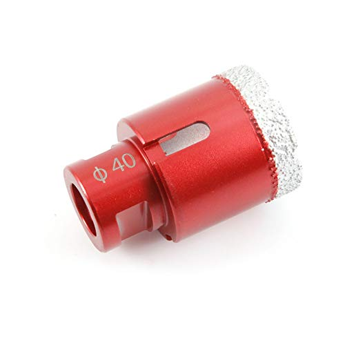 SurePromise Dry Diamond Drill Core Bit Diameter 40mm Angle Grinder Hole Saw Opener M14 Connection Vacuum Brazed Drilling Tile Porcelain Granite Marble
