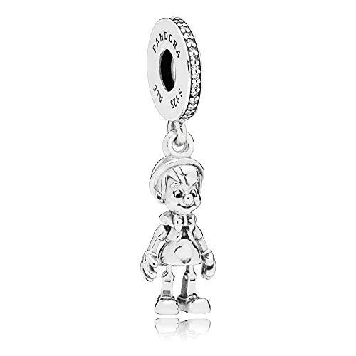 Genuine Women's Pandora Silver Bead Charms 925 Sterling Silver (Disney Pinocchio Dangle Charm)