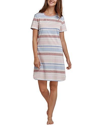 Schiesser Damen Sleepshirt 1/2 Arm, 90cm Nachthemd, Rot (Terracotta 532), 36 (Herstellergröße: 036)