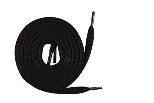 Die Schuhanzieher Schnürsenkel für Arbeitsschuhe Schuhsenkel flach gewachst schwarz 100cm z2215