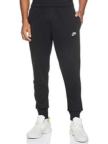 NIKE M NSW Club Jggr Ft Sport Trousers, Hombre, Black/Black/White, L