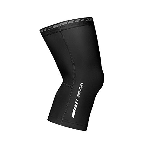GripGrab Knee Warmers Classic, Ginocchiere Uomo, Nero, S