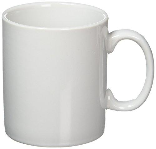 12x Athena Hotelware 283,5gram tazze in porcellana bianca, lavabile in lavastoviglie.