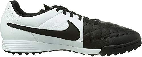 Nike Tiempo Genio Leather Tf 631284-010 Herren Fußballschuhe Training Schwarz (Black/White 010) 40