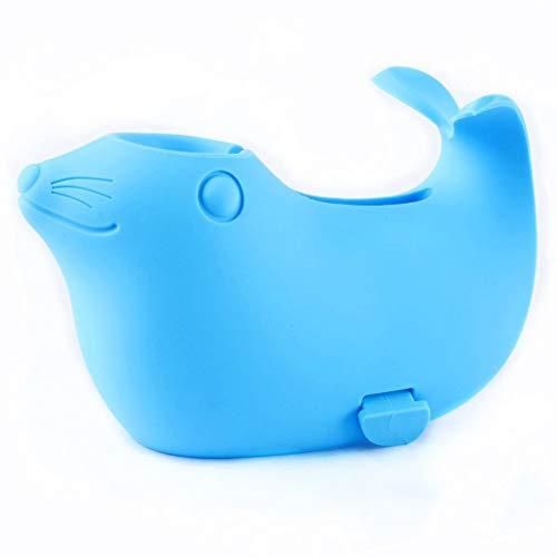 CLFYOU Protactive Abdeckung für Baby-Sicherheits-Cartoon-Fisch-Auslauf Abdeckung Blau Silikon Badewanne Auslauf Abdeckung