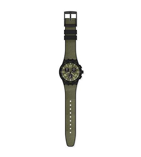 Swatch Unisex Analoger Quarz Uhr mit Kunststoff Armband SUSB105