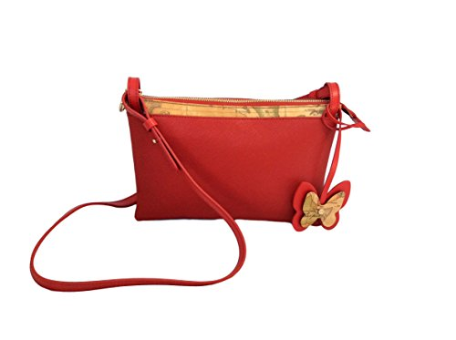 BORSA ALVIERO MARTINI GEO CLASSIC THE BUTTERFLY SMALL SHOULDER BAG LGI659407 RED