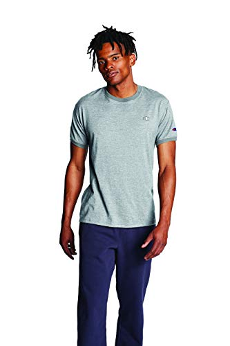 Champion Men's Classic Jersey Ringer Tee, Oxford Gray, S