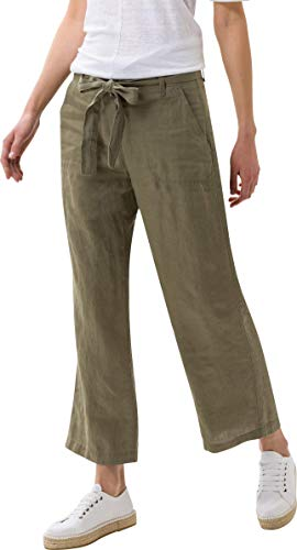 BRAX Damen Style Maine Leinen Hose, Khaki, 31W / 32L