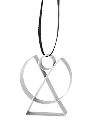 Stelton - Figura - Ornament - Engel - Stahl mit Farblackierung - Weiß - Klein - W: 4cm x H: 5,5cm x Ø: 1,3cm