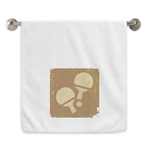 DIYthinker - Toalla de Tenis de Mesa, diseño de círculos, Color Blanco