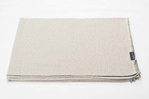 David Fussenegger LINO Leinenplaid, Cotton, glasgrün, 135/200, 2