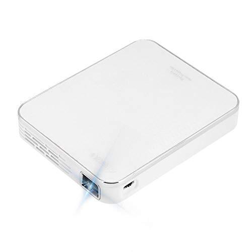 Proyector 4K, proyector blanco, dispositivo de proyección, para reuniones para juegos sin necesidad de ordenador portátil en cualquier lugar (reglamentario británico)
