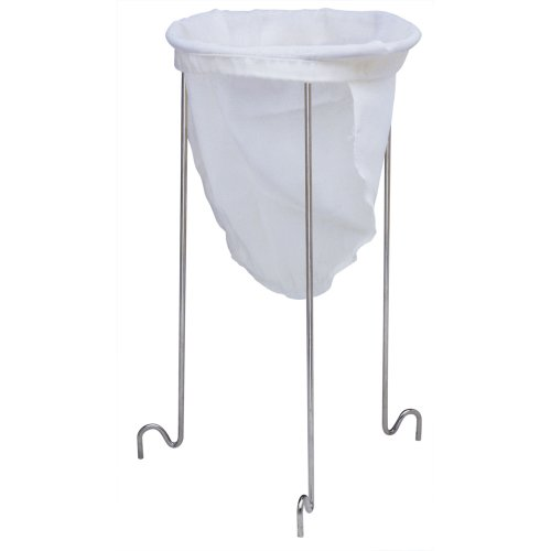 Norpro, White & Silver 614 Strainer Stand, 12in/30.5cm high and 6.5in/16.5cm