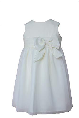 Cocolina Sonia edles Taufkleid Festkleid Blumenmädchenkleid Ivory (68-6M)