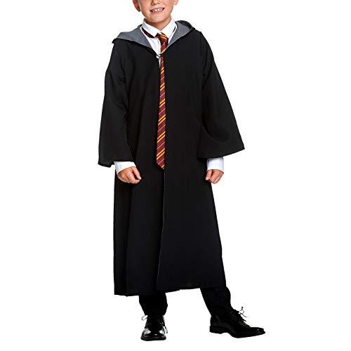 HARRY POTTER Disfraz de Mago para nios Traje con Capucha para fanticos Elfos Forest Black - 128
